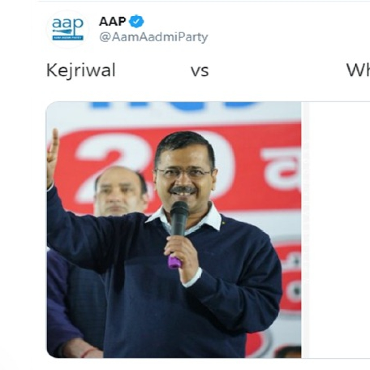Delhi Elections 2020: AAP asks 'Kejriwal versus who'