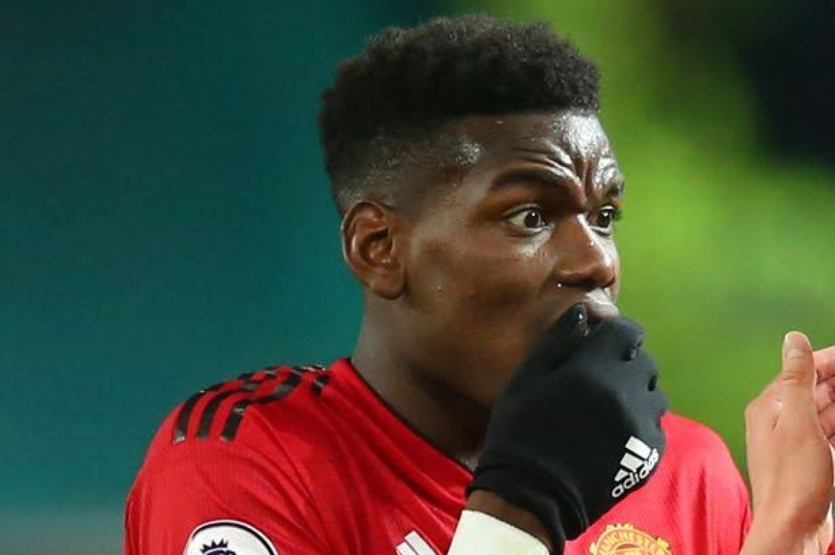 Paul Pogba mistakes urine for apple juice