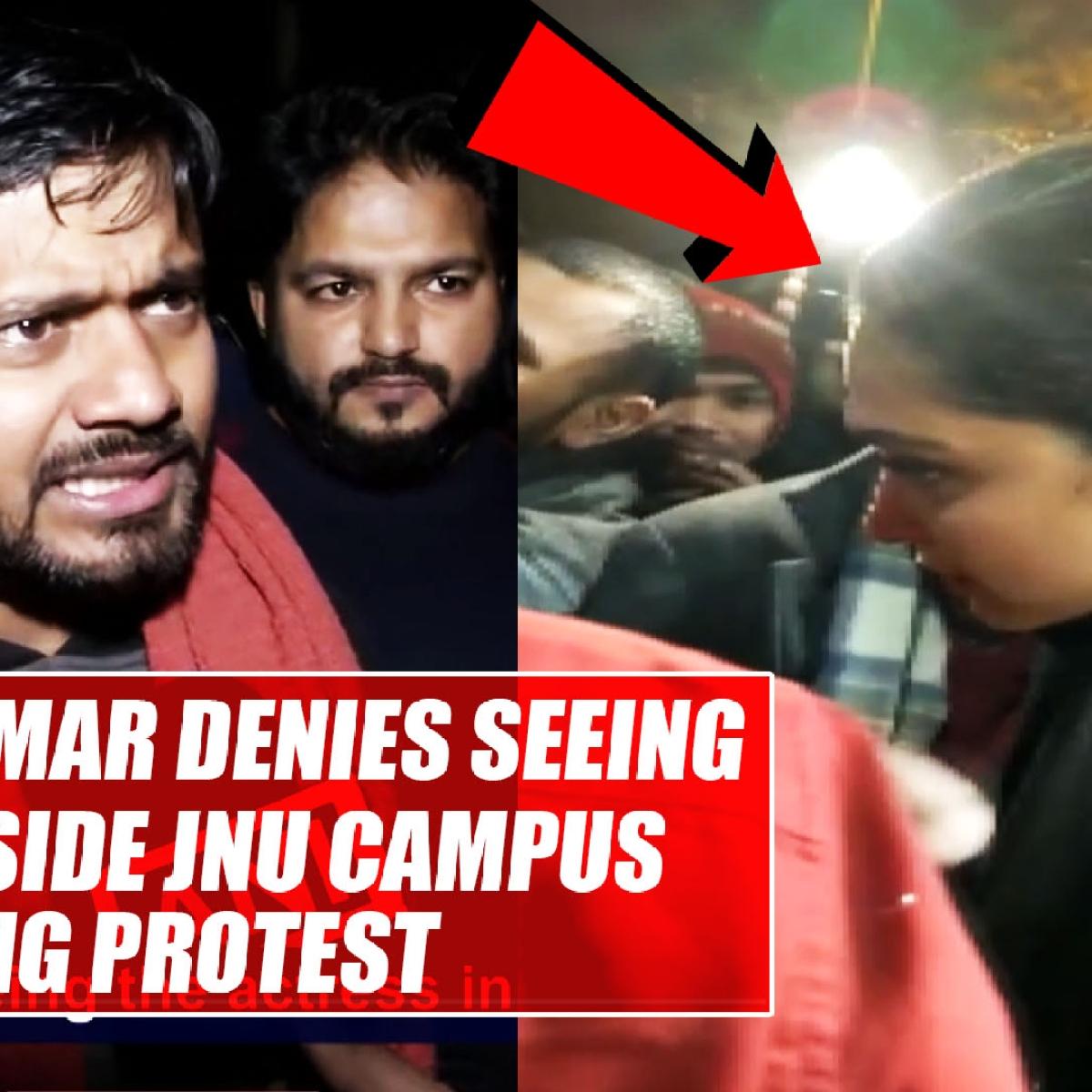 Kanhaiya Kumar denies seeing Deepika inside JNU campus during protest