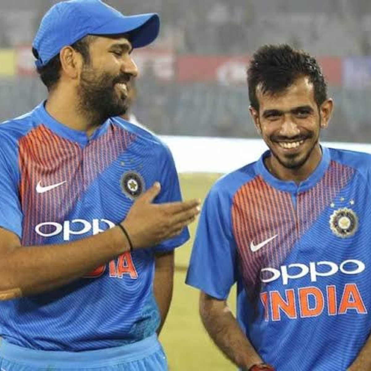 'That's my little boy...': Rohit Sharma mimics Chahal's fielding in a fun Instagram post