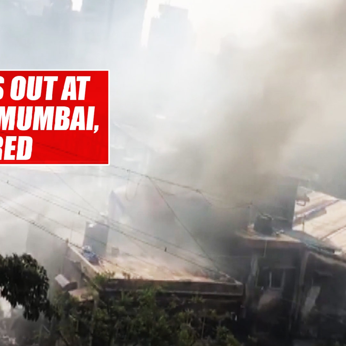 Fire breaks out at building in Mumbai, 5 injured
