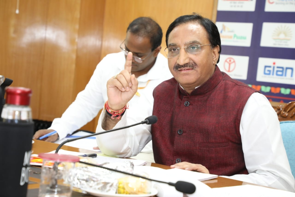 Education minister Ramesh Pokriyal to hold virtual meet with directors of IITs, NITs, IISER and IISCs today