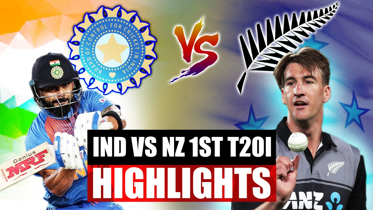 India vs New Zealand 1st T20I Highlights: Shreyas Iyer finishes off in style as India chase 204