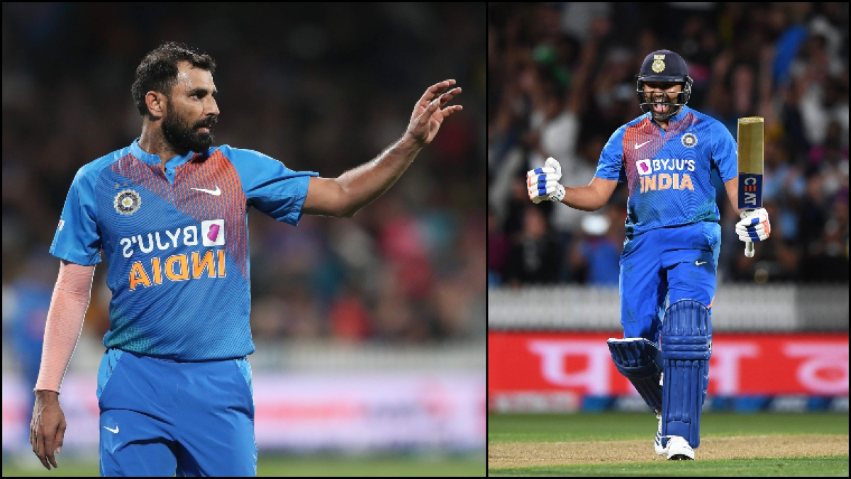 NZ vs IND 3rd T20I: Twitterati doff their hats as Rohit Sharma, Mohammed Shami come up clutch