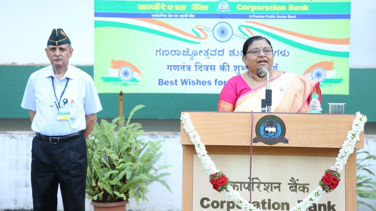 Corporation Bank Celebrates Republic Day