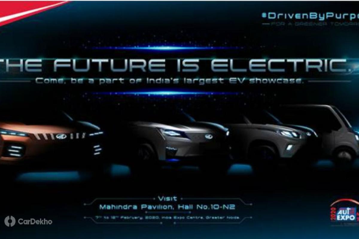 Mahindra Teases Auto Expo 2020 EV Lineup: eXUV500, eXUV300 & eKUV