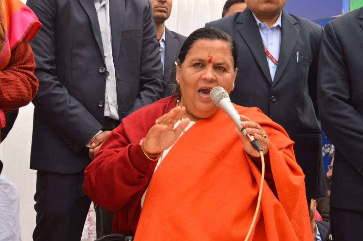 Bhopal: Uddhav should clear stand on Savarkar booklet, says Uma Bharti