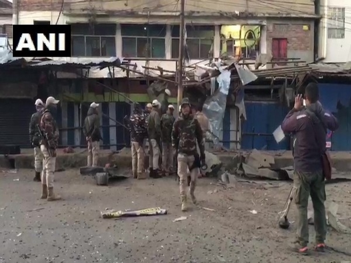 Manipur: IED blast occurred at Nagamapal RIMS road in Imphal West