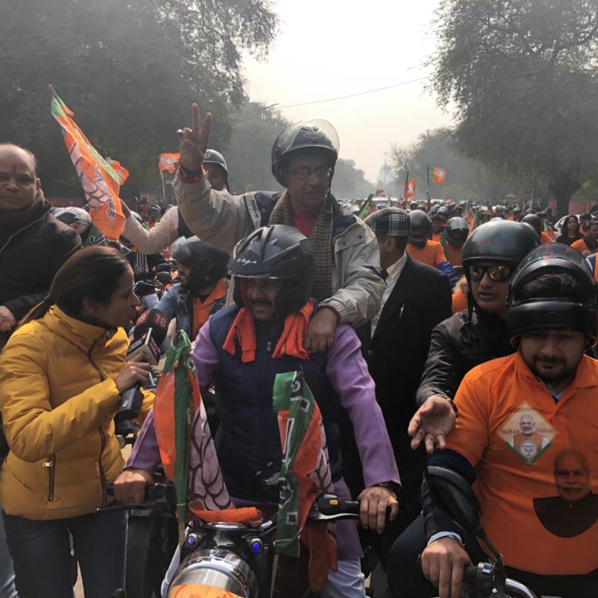 'BJP polluting already polluted Delhi': Twitter slam party for organising #WorldBiggestBikeRally