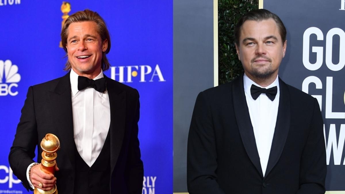 'I would've shared the raft': Brad Pitt burns Leonardo DiCaprio with 'Titanic' joke in Golden Globes speech