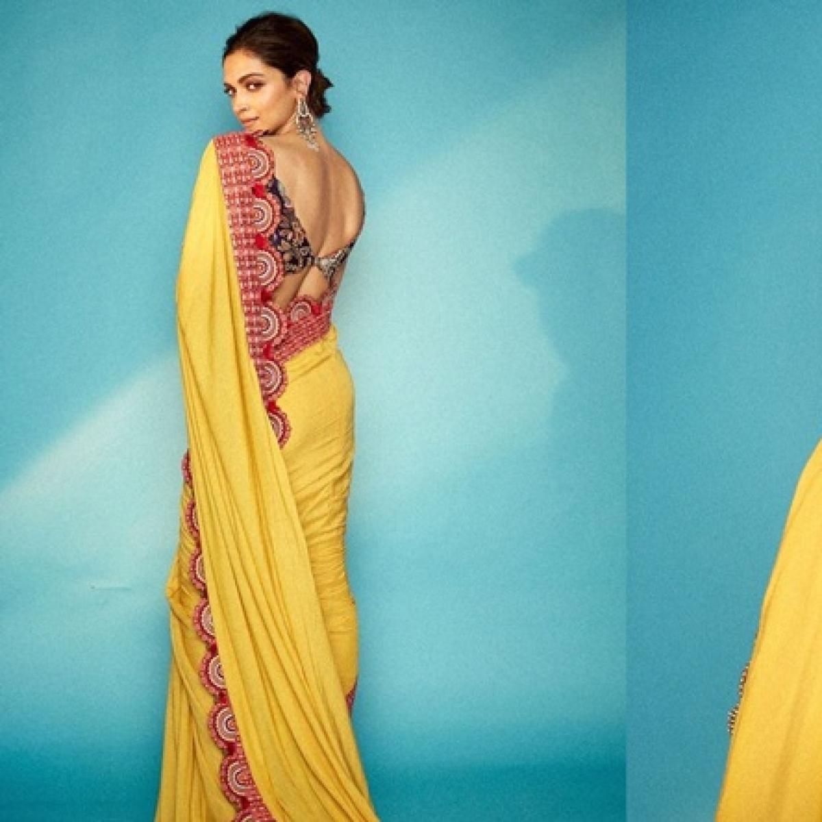 Saree not Sorry: Deepika Padukone turns into an ethnic goddess for 'Chhapaak' promotions