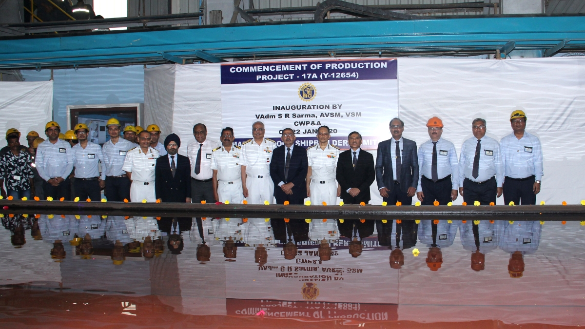 MDL commences production of Y-12654, fourth ship of P17A