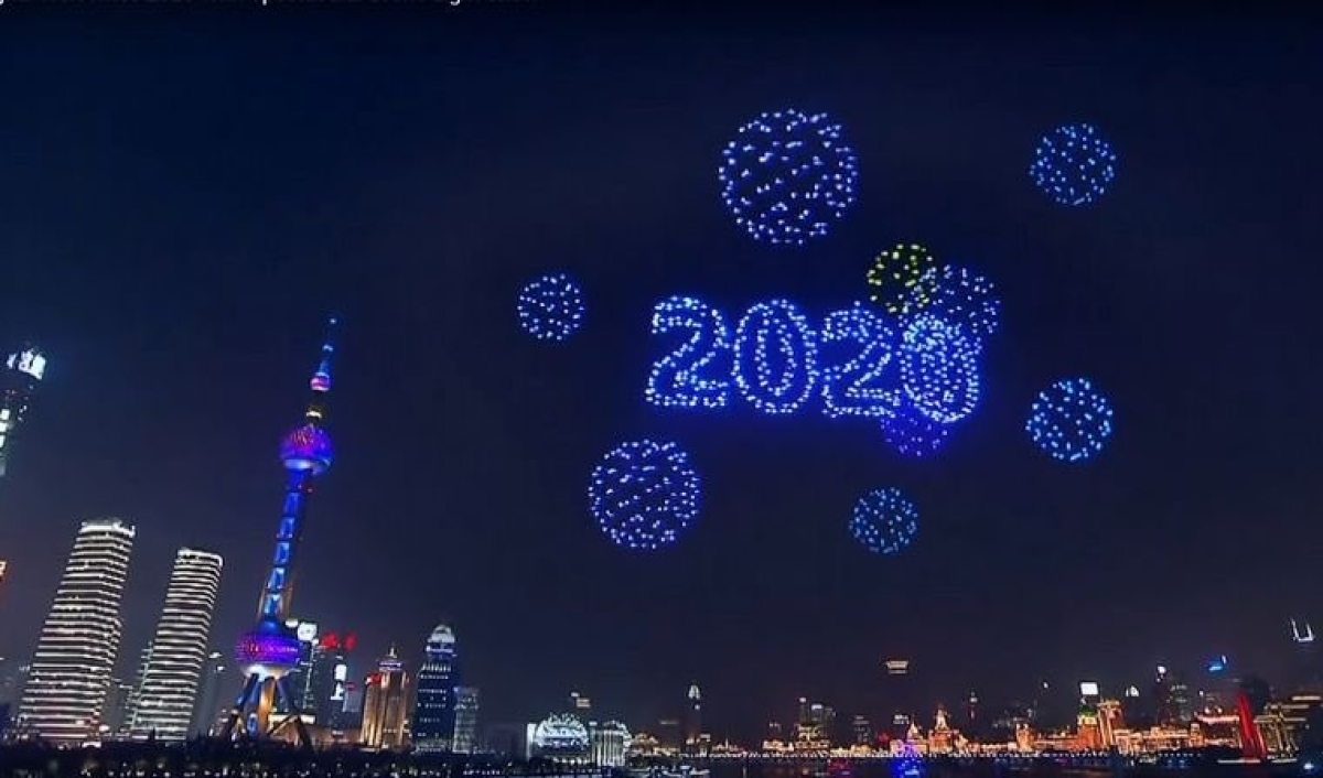 Shanghai New Year display was pre-recorded
