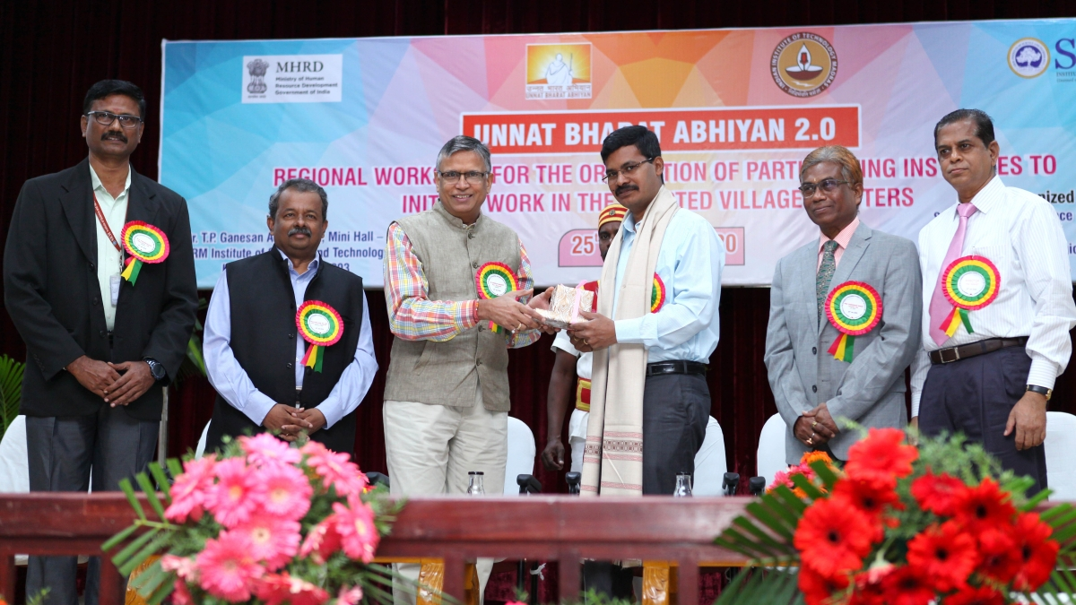 Unnat Bharat Abhiyan 2.0 workshop held at SRM