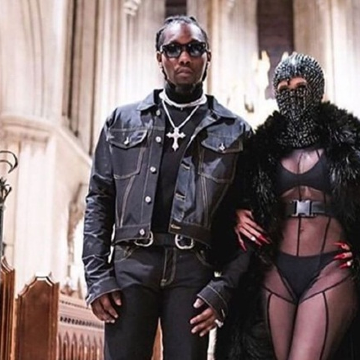 Cardi B sizzles in sexy see-through catsuit for Paris Fashion Week