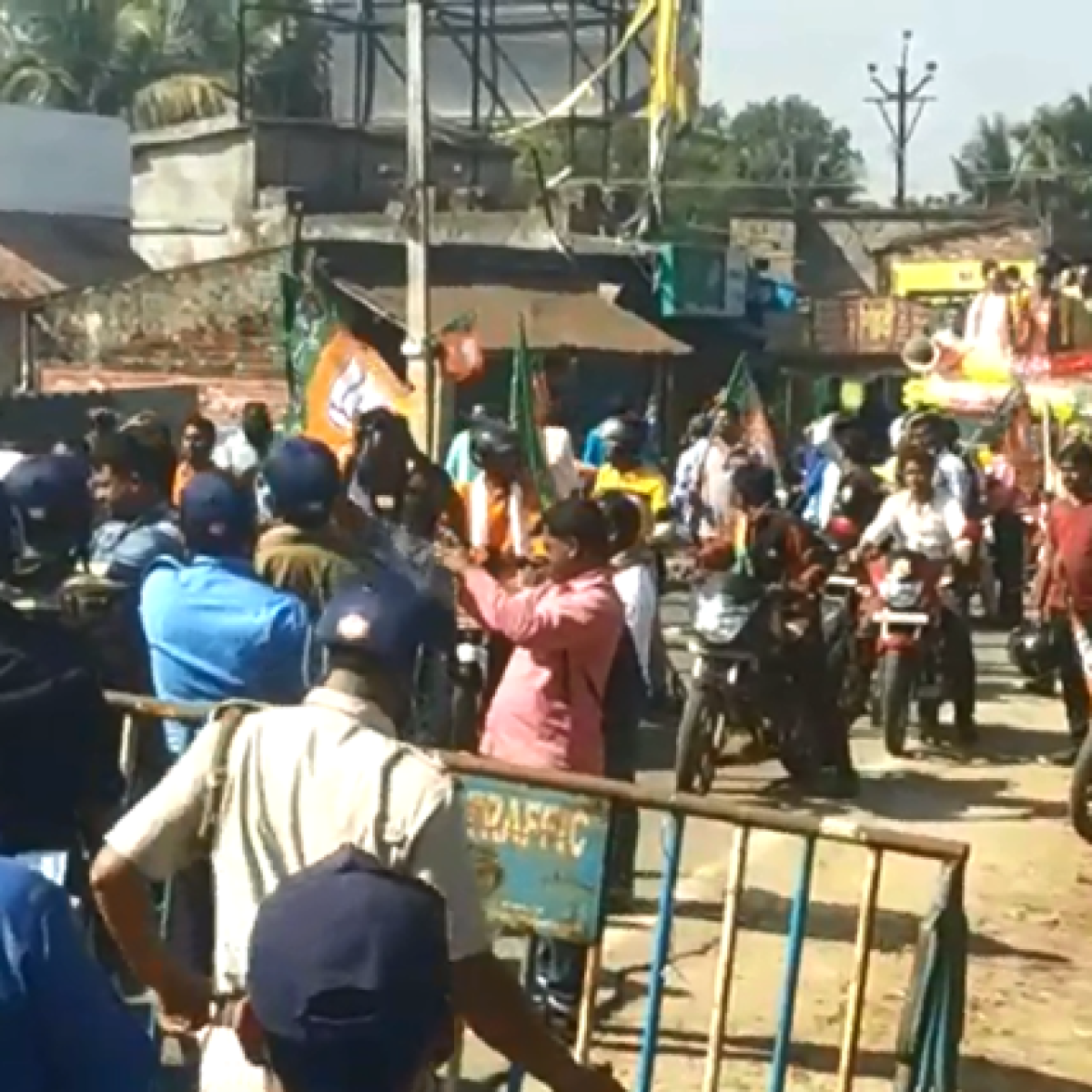 Police lathicharge, detain CAA supporters during West Bengal rally led by Dilip Ghosh