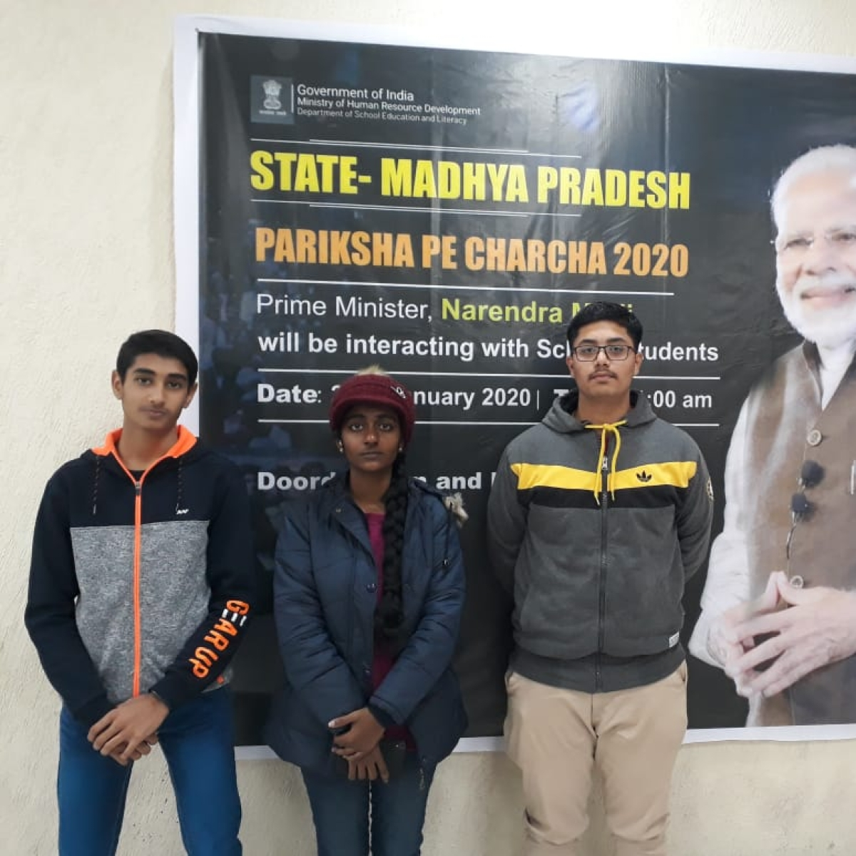 Indore trio heads to Pariksha Pe Charcha 2020 with PM