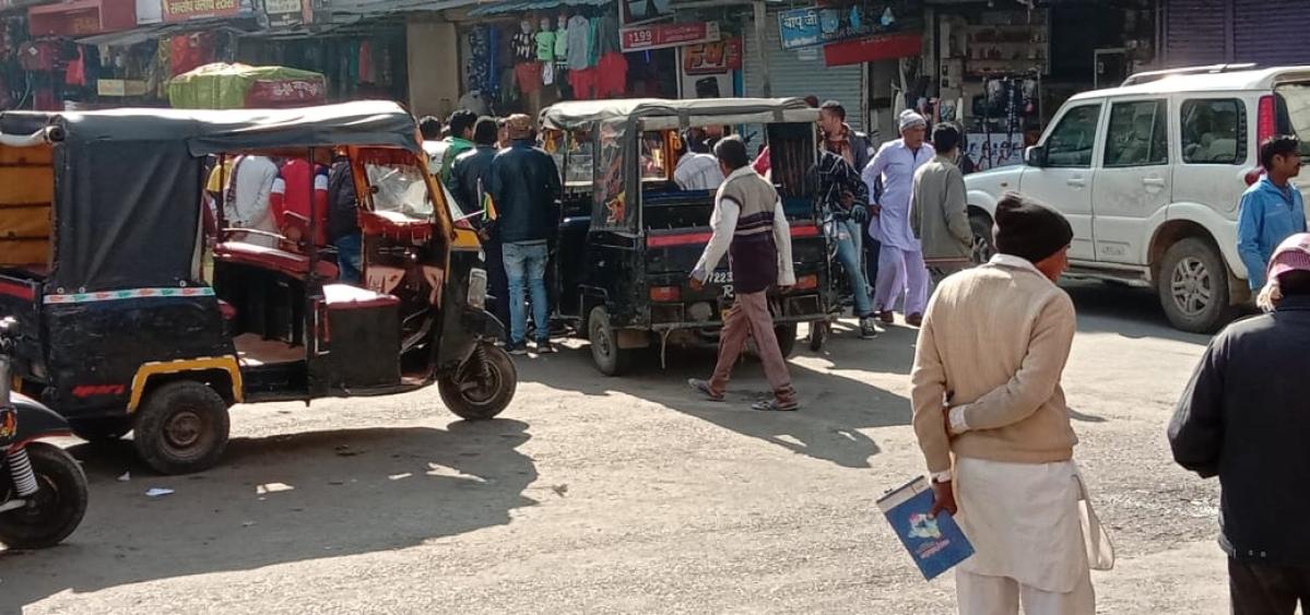 Shujalpur: 3-wheelers causing traffic jam in city