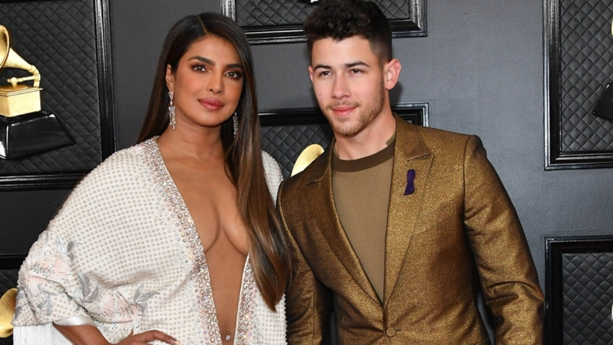 Priyanka Chopra stuns in a sexy Ralph and Russo gown with a plunging neckline