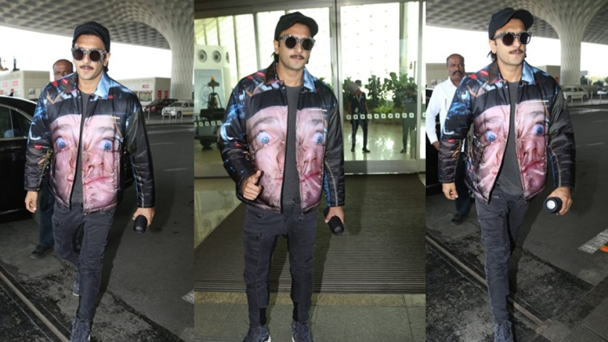 Did Ranveer just react to Deepika's haters with a meme jacket worth Rs 98K?
