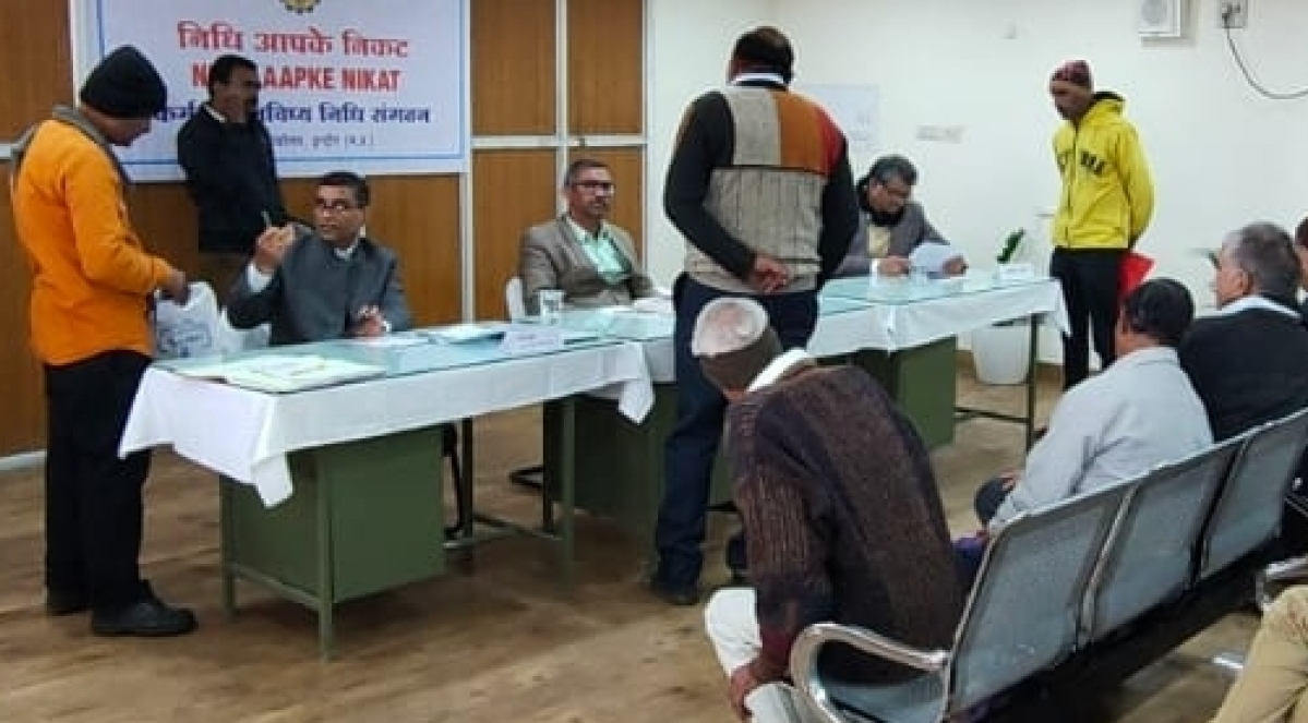 Employees put in their complaints during the one-day camp of EPFO held at Race Course Road.