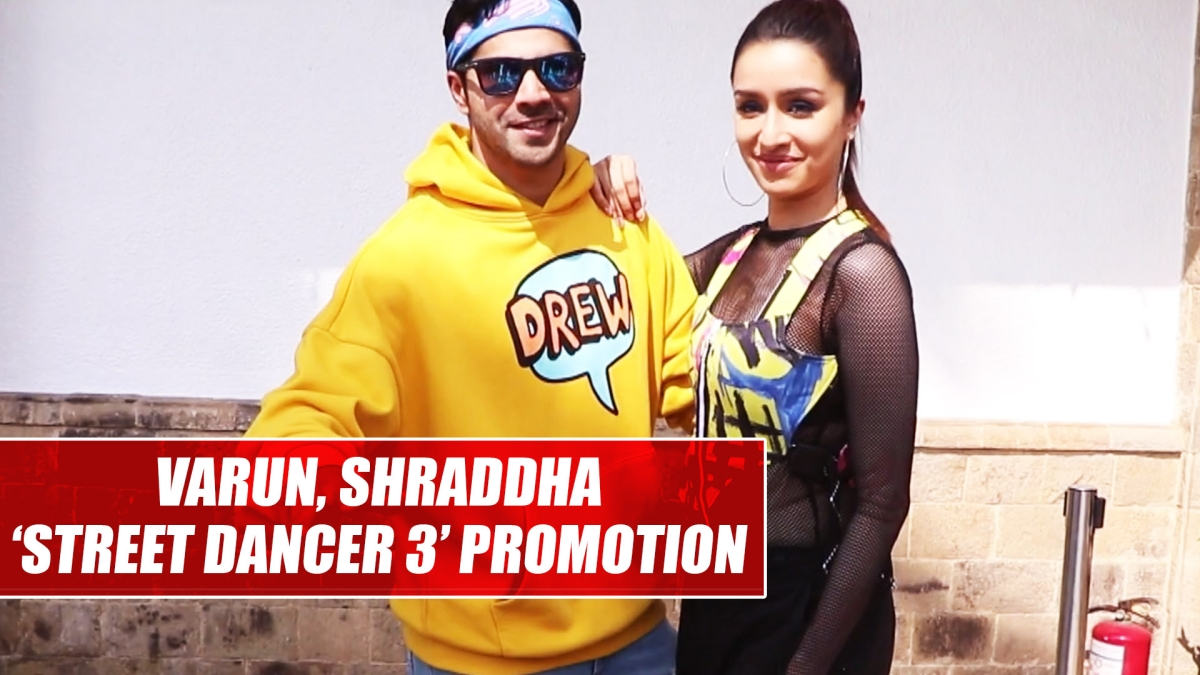 Varun Dhawan, Shraddha Kapoor oomph up style game during 'Street Dancer 3' promotion