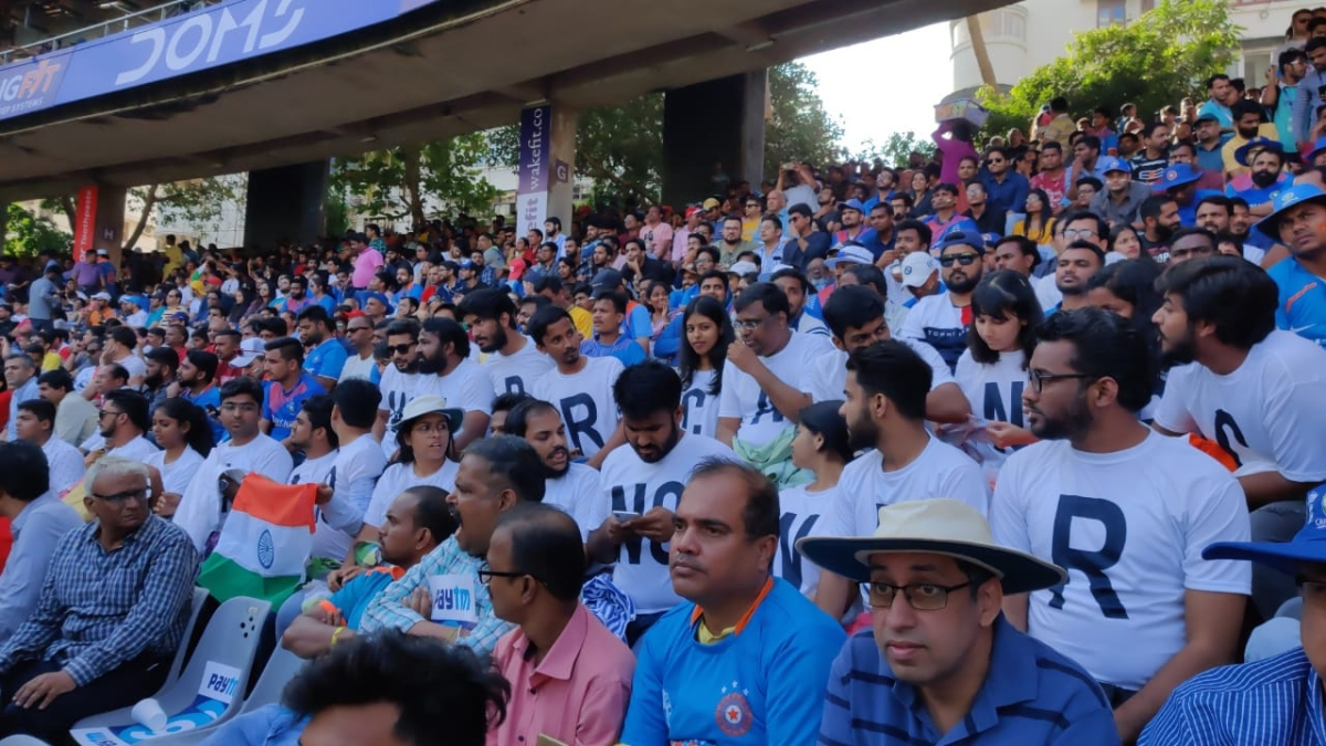At Wankhede Stadium, CAA-NRC protesters greeted with chants of 'Modi-Modi'