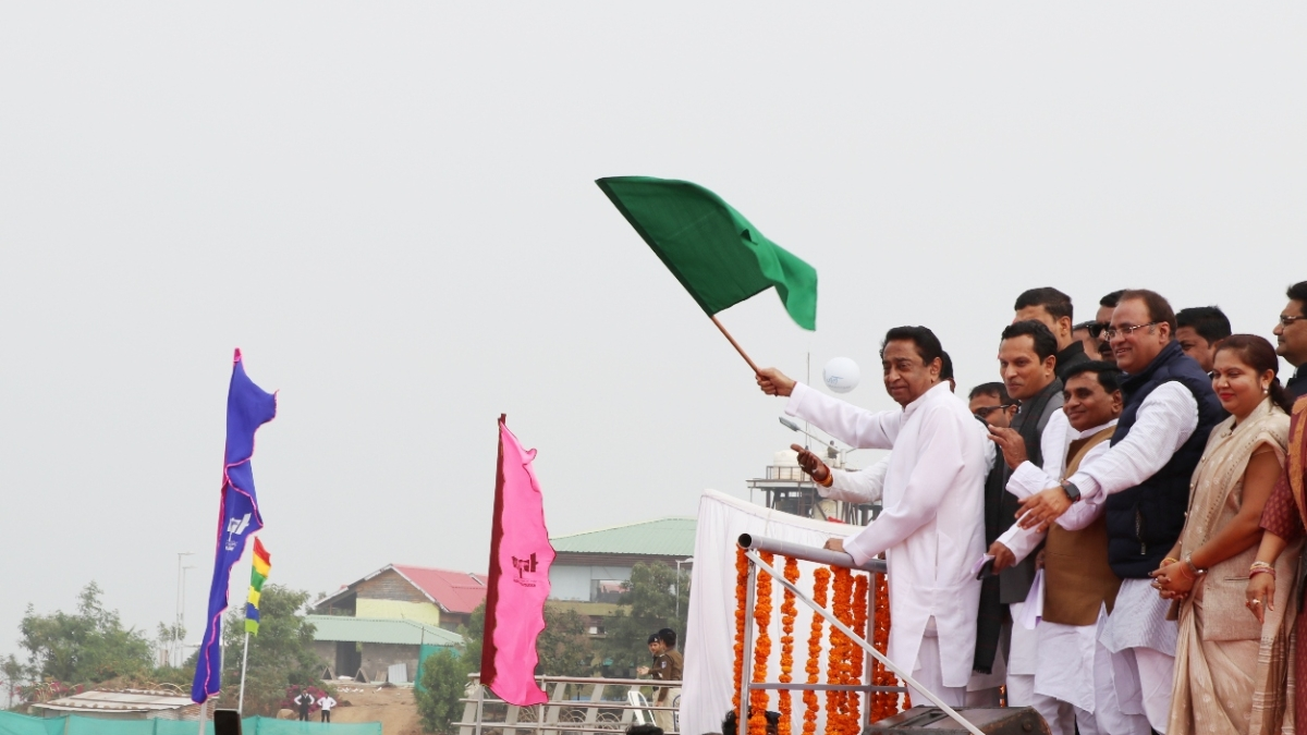 CM Kamal Nath flags-off 4th Jal Mahotsav at Hanuwantiya