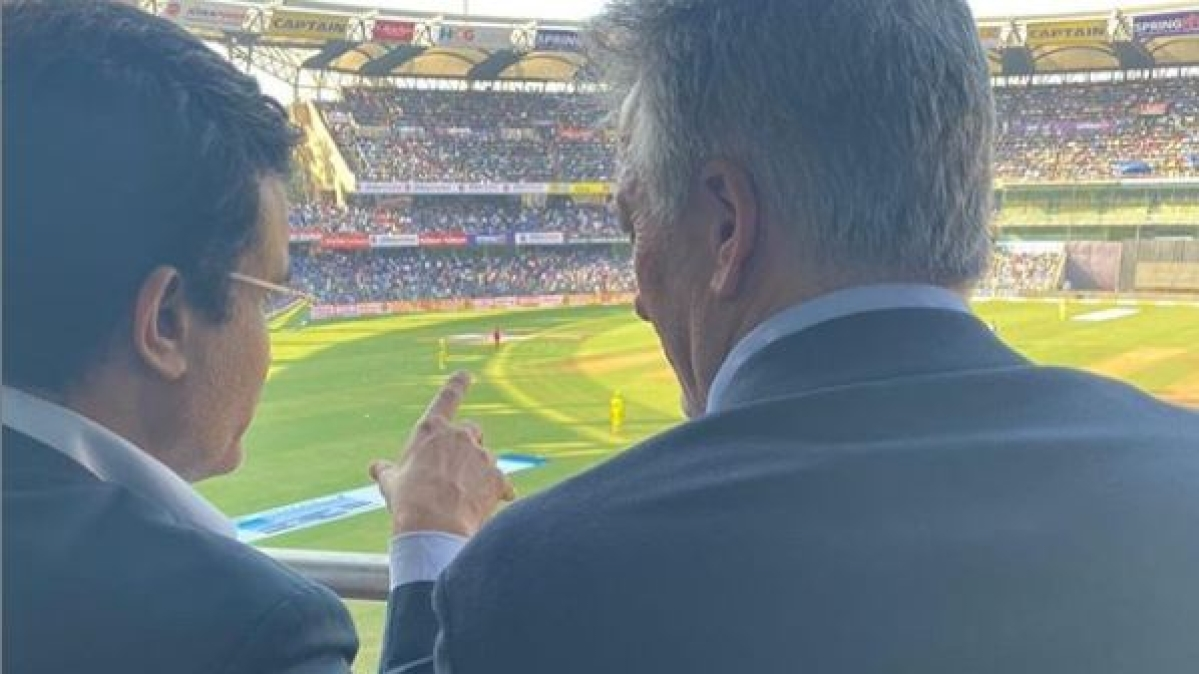 Not making him wait anymore: Steve Waugh and Sourav Ganguly reunite at Wankhede
