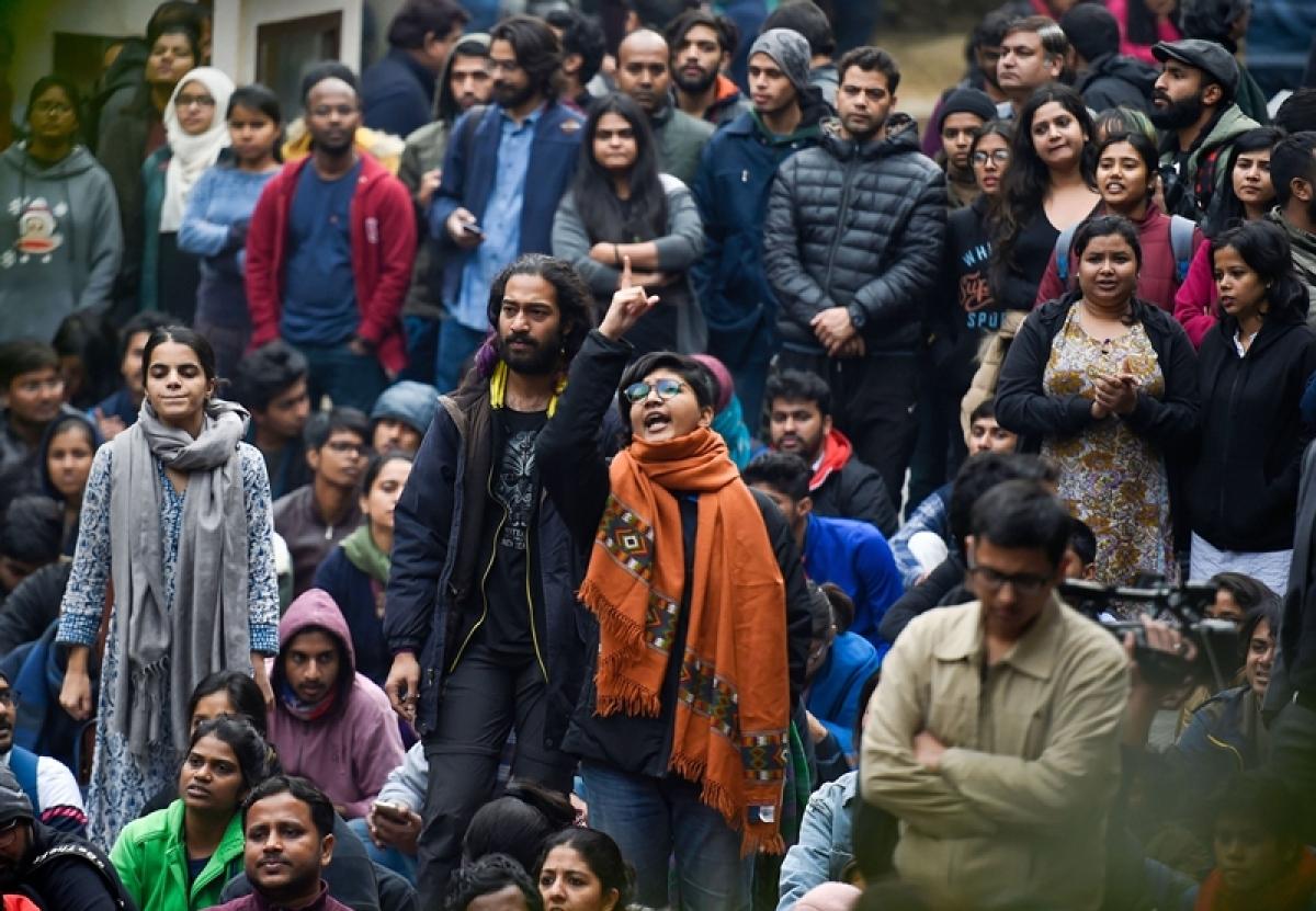 JNU Violence video trial leads to ABVP