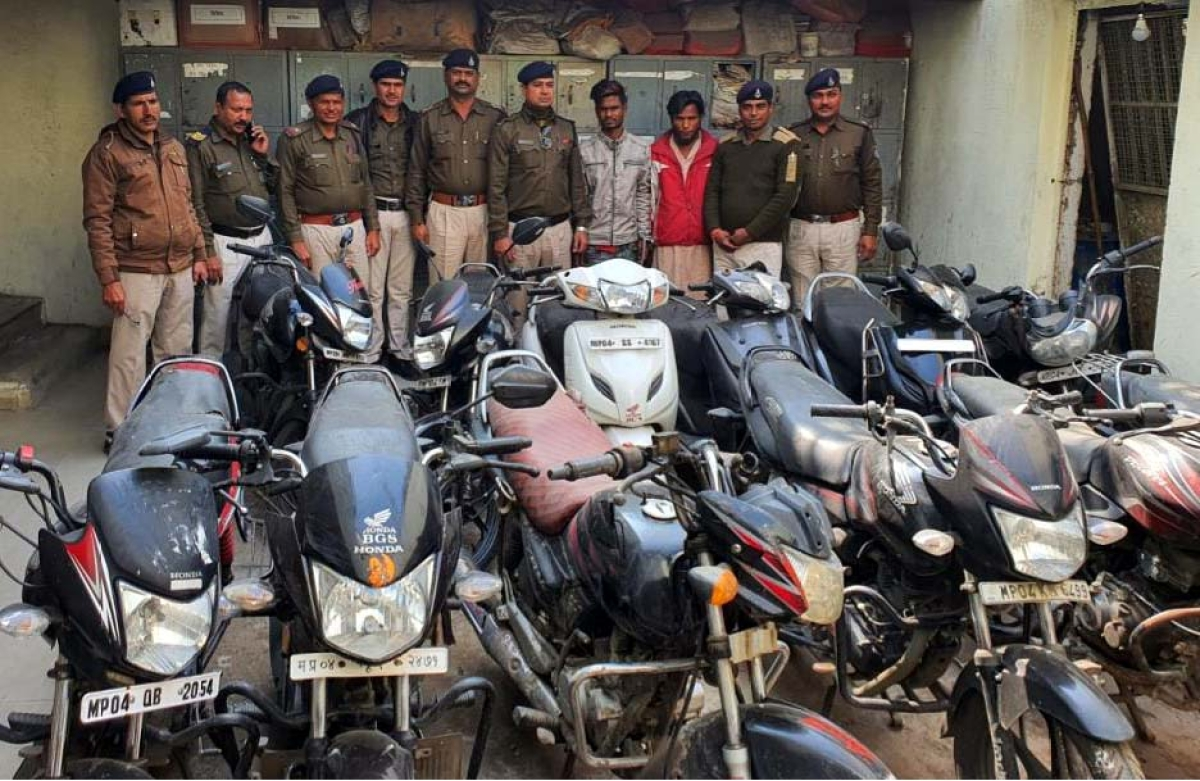 Bhopal: Two held for vehicle lifting, 12 two-wheelers recovered