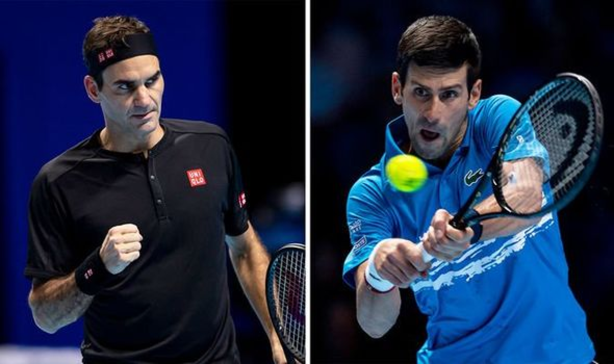 Roger Federer and Novac Djokovic