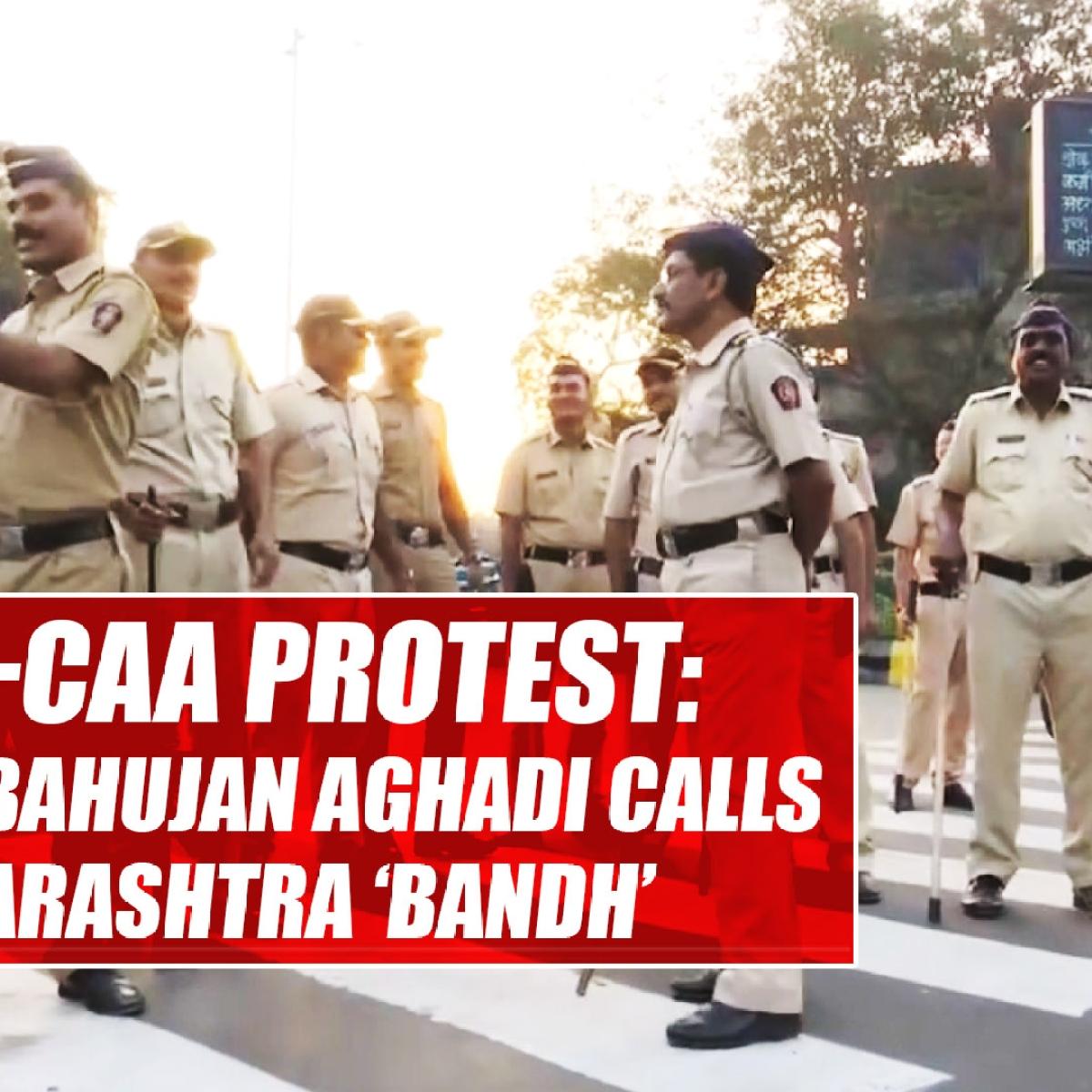 Anti-CAA protest: Vanchit Bahujan Aghadi calls for Maharashtra 'bandh'