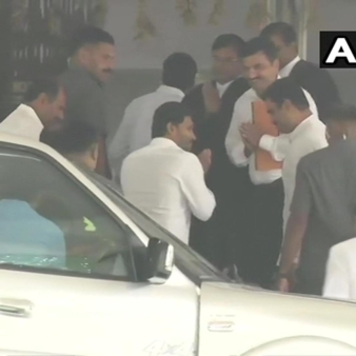 Andhra Pradesh CM Jagan Mohan Reddy appears before CBI court in Hyderabad