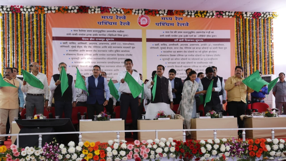 Mumbai: First AC local of Central Railway flagged off