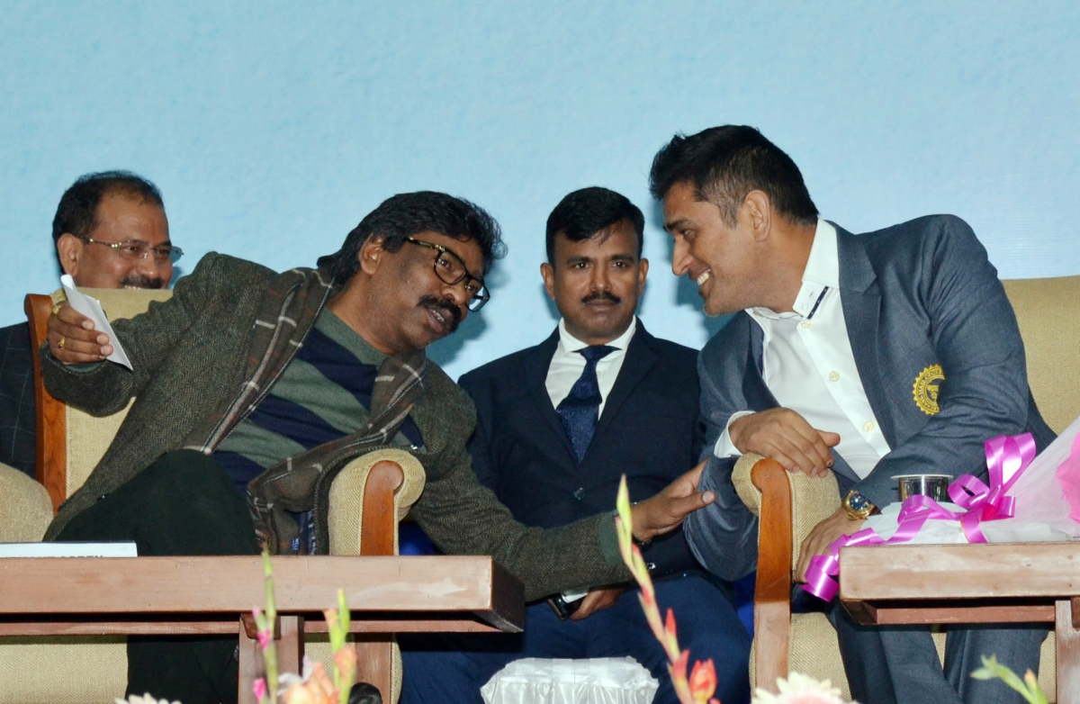 Dhoni, Jharkhand CM Hemant Soren inaugurate new facilities at JSCA