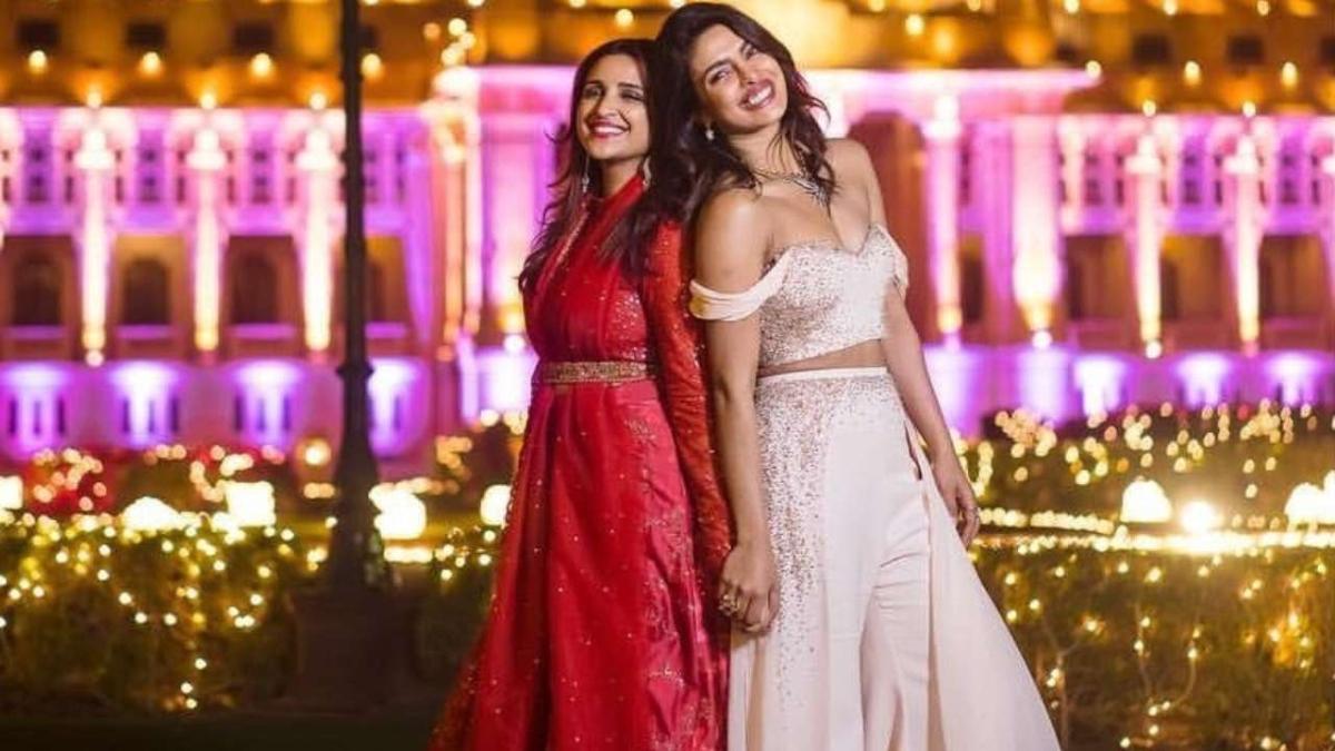 Parineeti Chopra (L) with Priyanka Chopra