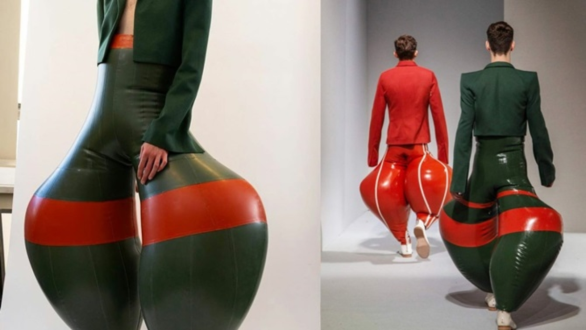 Weird, silly, but playful: Designer Harkrishnan's latex pants defy fashion norms