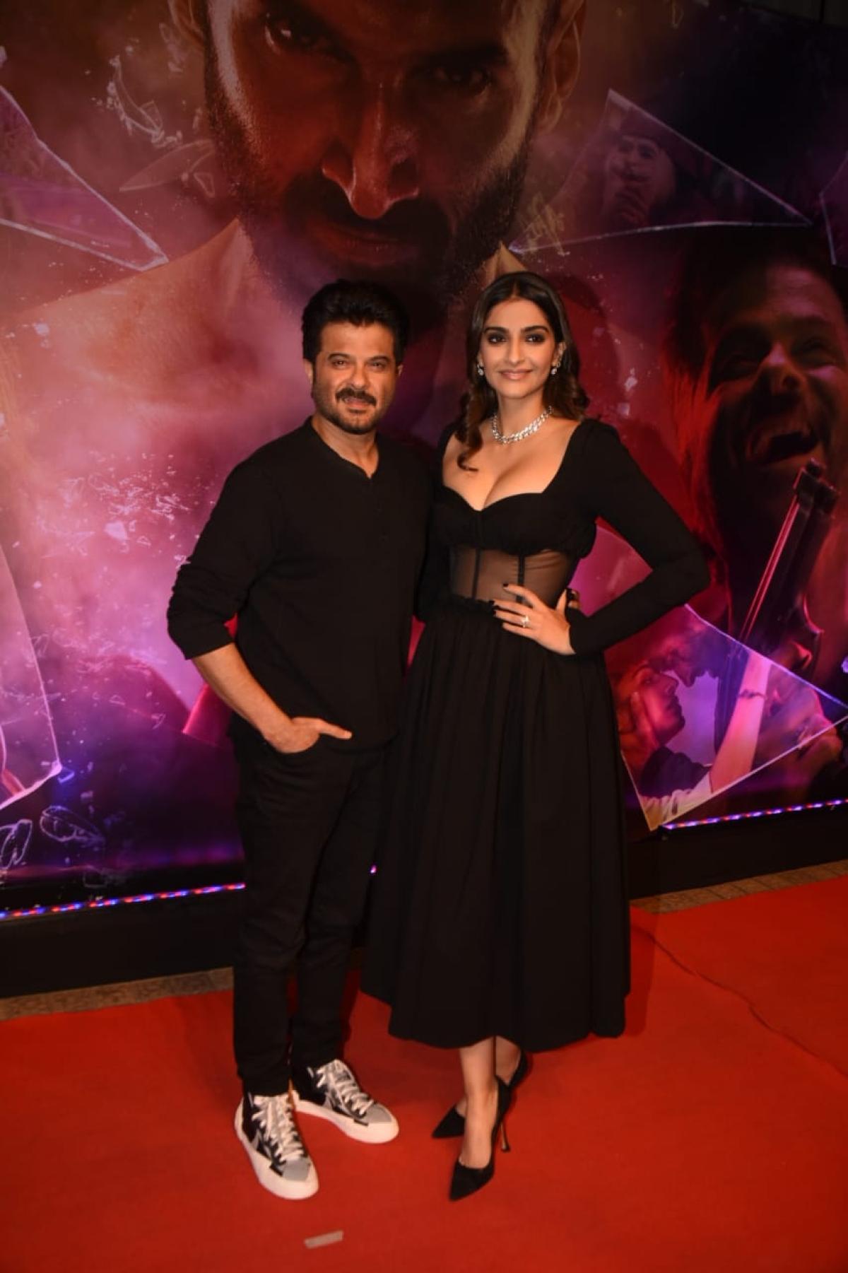 Anil Kapoor with Sonam K Ahuja