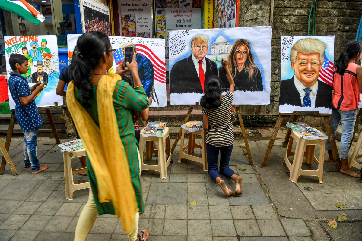 US President Donald Trump's 'fun and the feast' trip to Gujarat accompanied by his wife Melania