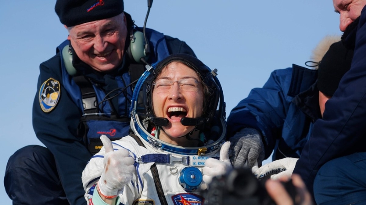 US astronaut Christina Koch returns to Earth after longest mission by woman