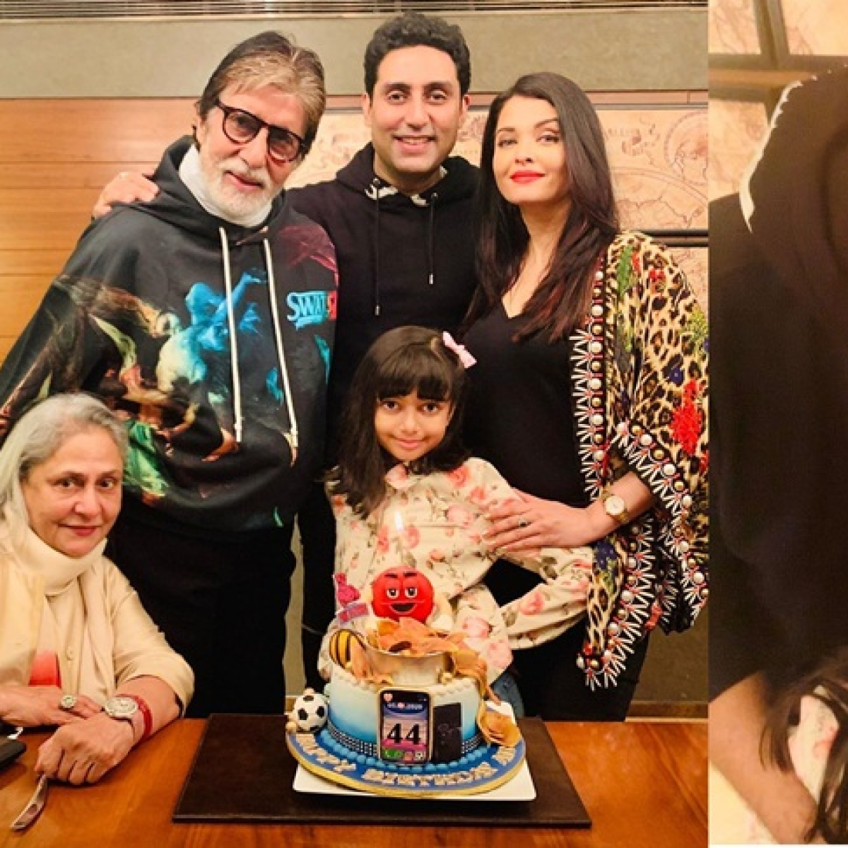 Aishwarya shares family moments from Abhishek Bachchan's birthday party