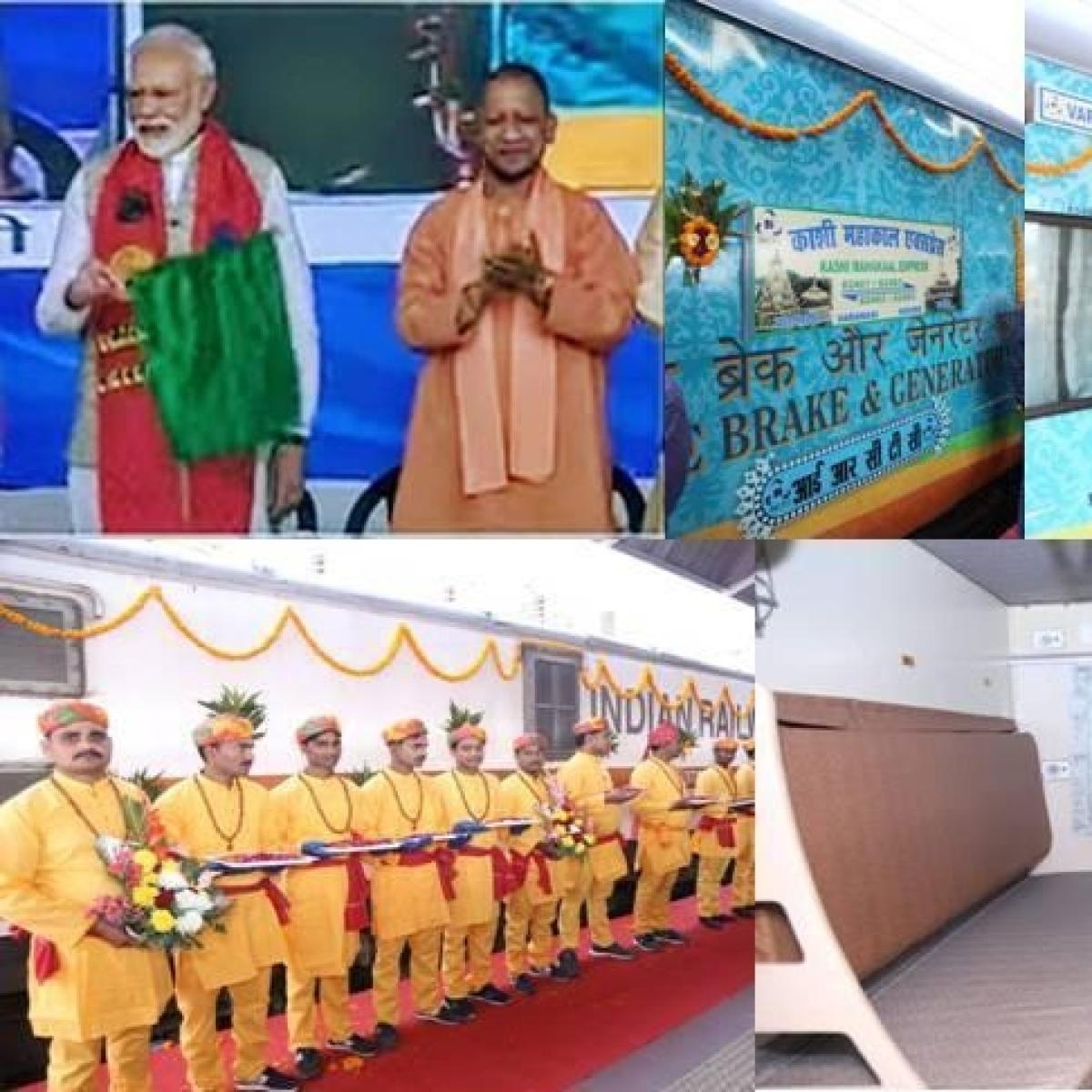 PM Modi flags off Kashi Mahakal Express between Varanasi And Indore