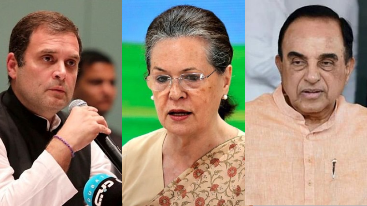 Rahul Gandhi, Sonia Gandhi and Subramanian Swamy