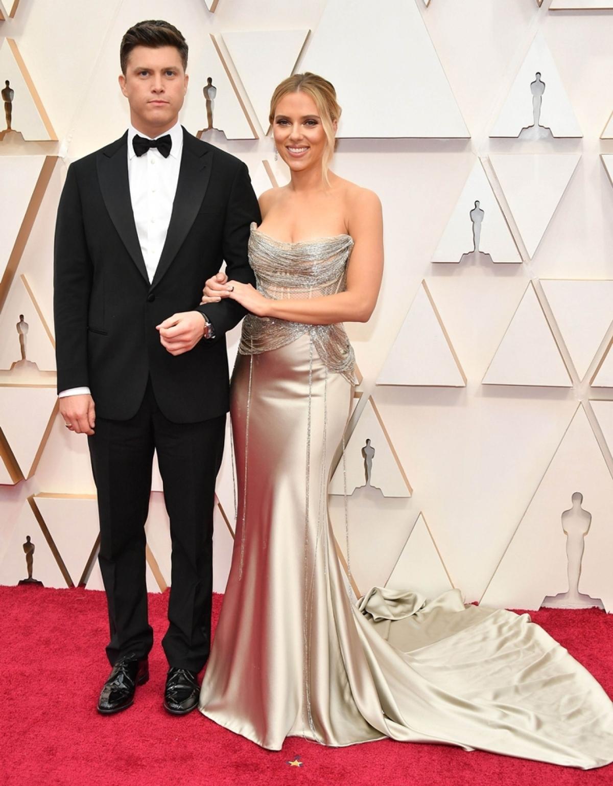 Colin Jost with Scarlett Johansson