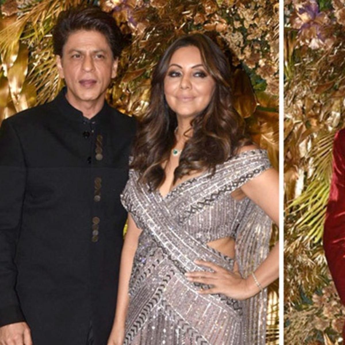 Shah Rukh, Gauri Khan, Karan Johar set the stage on fire with 'Kajra Re' moves at Armaan Jain's reception