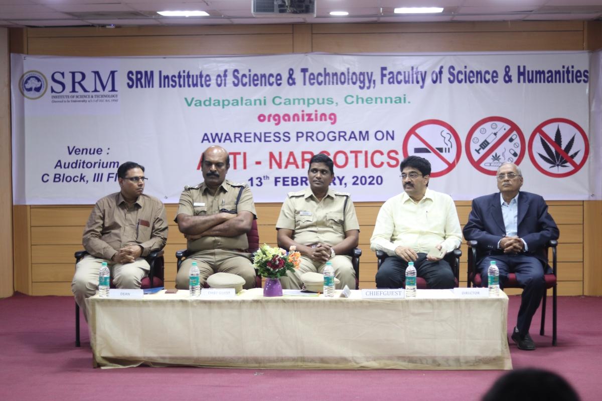 SRM organises awareness programme on Anti-Narcotics