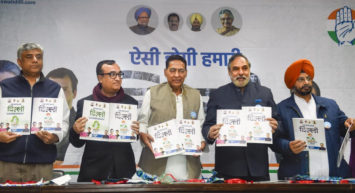 Delhi elections 2020: Congress manifesto promises Rs 5,000 allowance for unemployed, senior citizens, transgenders