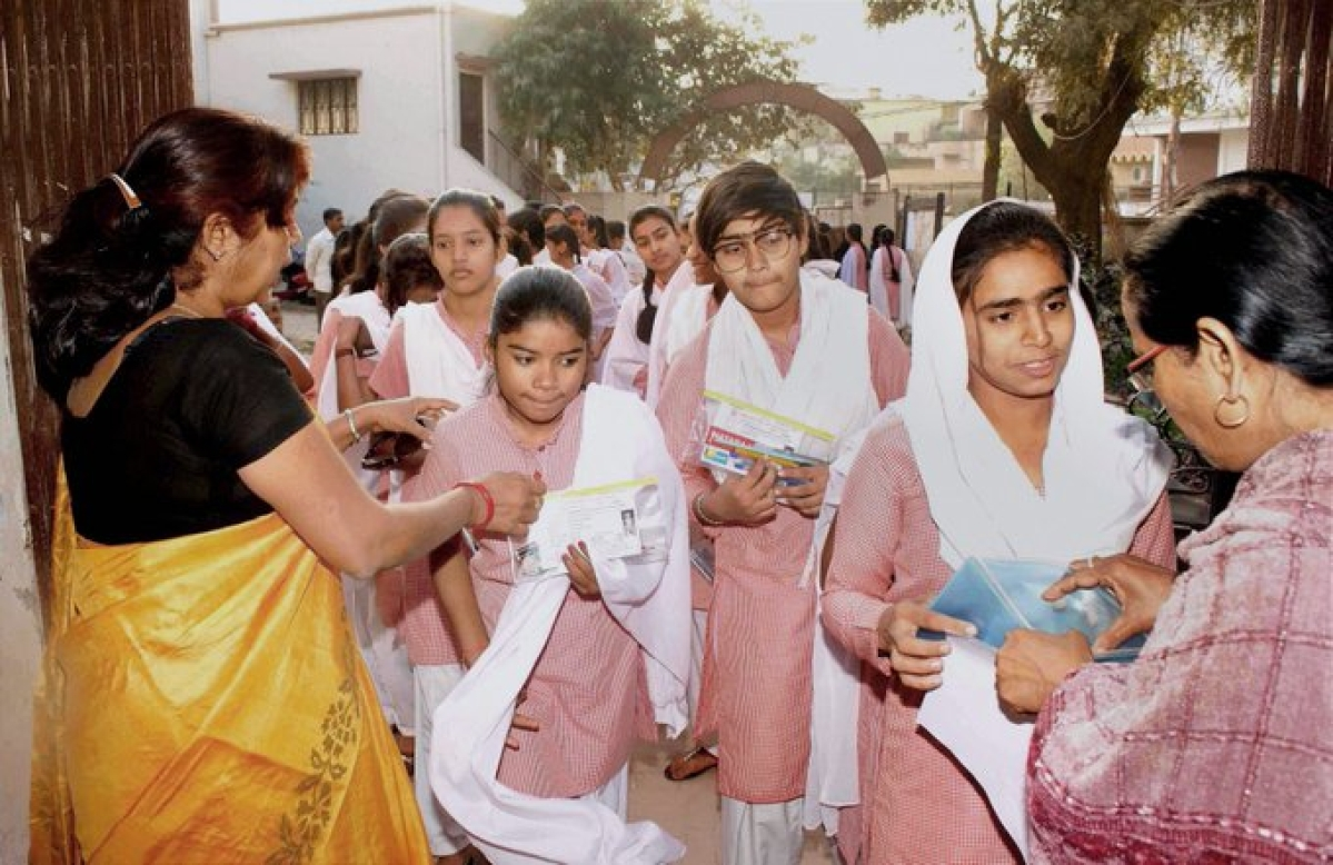 Students appearing for their Madhaymik examination in previous year.