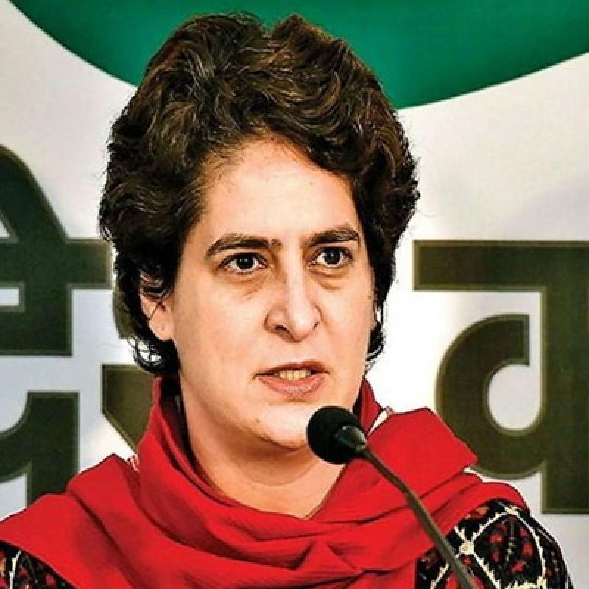 Who is spending Rs 100 cr: Priyanka Gandhi Vadra